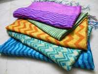 100% tussar silk hand block printed