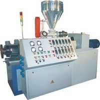 CONICAL TWIN SCREW EXTRUDER FOR PVC TRUNKING PIPE
