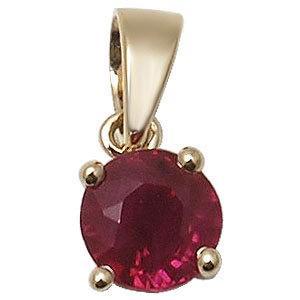 0.50ct ruby, 18k gold pendants