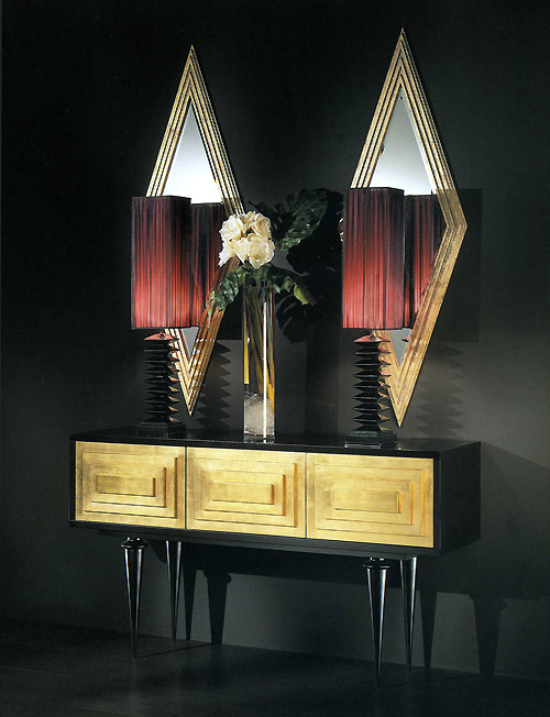 Contemporary Console Table with Mirror