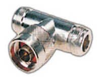 T Connector to 2 - N Female Connector Pin Gold Plated