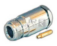 N Female Connector for RG-8 & RG- 58/U Cable Pin Gold Plated