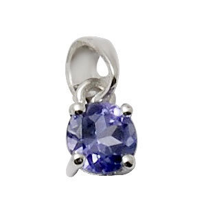 tanzanite pendants for girls, tiny gold pendant in tanzanite
