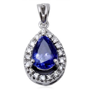 latest diamond tanzanite pendant, new design gold pendant, best pendant providers in gold