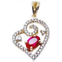 heart pendant in red ruby, designer heart pendant supplier, heart pendant locket