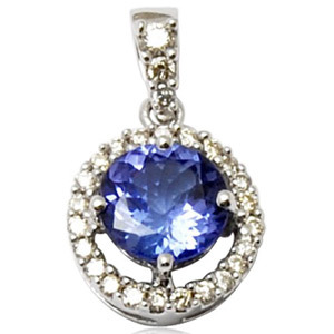 diamond studded sapphire pendant, small pendant in colorstone, best pendant for girls