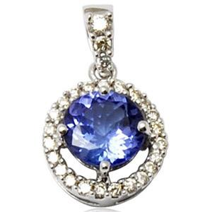 diamond studded sapphire pendant, small pendant in colorstone, best pendant for girls