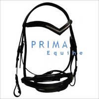 Crank Noseband Leather Bridle with Stones