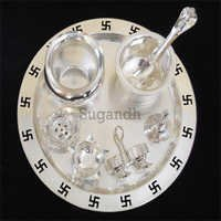 Silver Plated Puja Set