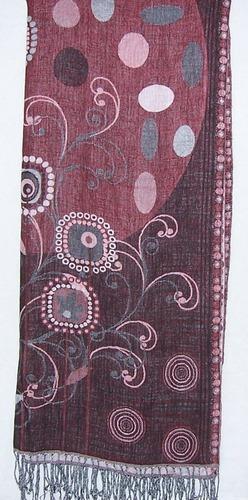 Wool Printed Cotton Designer Shawls