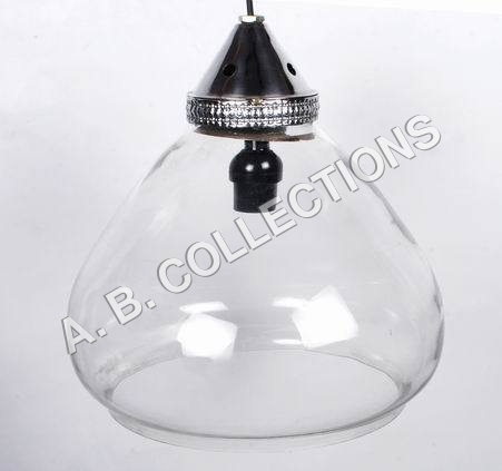 GLASS HALF BALLOON PENDANT LIGHT