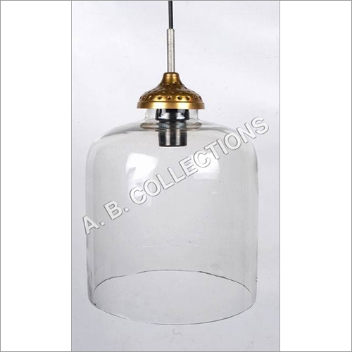 LARGE GLASS PENDANT LAMP