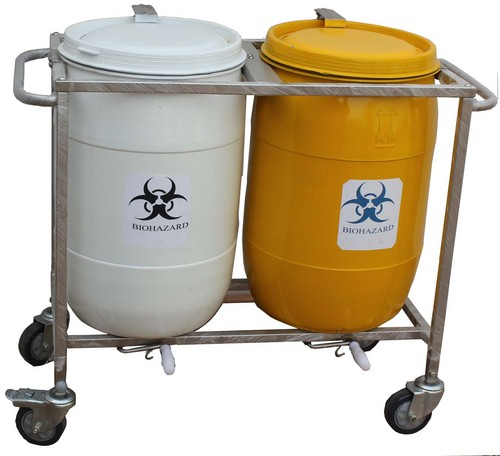 Biomedical Waste 2 Bin Trolley