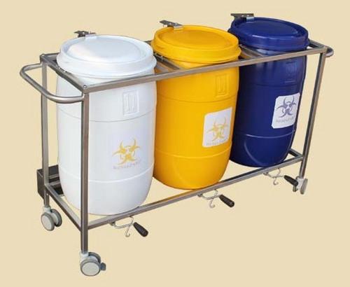 生物医学的废物箱台车