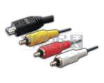 Mini USB Plug to 3 RCA Plug Cord