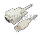 USB A Male to DB 9P Male Cord - 1.5 Meter.