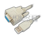USB A Male to DB 9P Female Cord - 1.5 Meter.