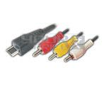 MINI 8PIN Male TO 3 RCA Plug Cord - 1.5 Meter