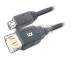 USB A Female to Mini USB A Male (4 PIN) Cord 1 Meter.
