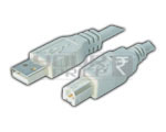 USB A Male TO USB B Male Cord (Shielded) - 3 Meter