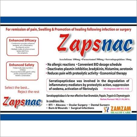 Zapsnac Anti Inflammatory Tablets