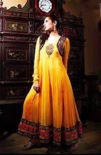 yellow anarkali