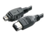 Firewire IEEE 1394 Cable 4 pin male to 6 pin male cord - 1.5 Meters