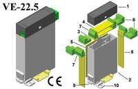 Din Rail Plastic Vertical Enclosure 123*75*22.5