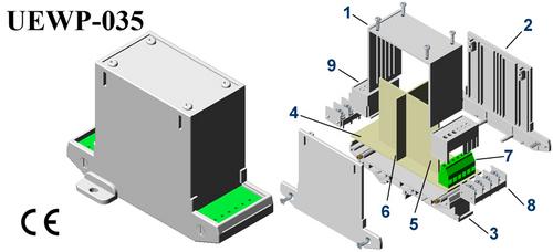 Plastic Electronic Enclosure 112*78*40