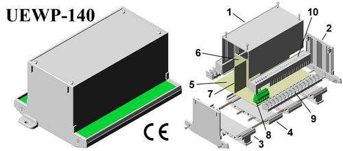 Plastic Electronic Enclosure 112*78*145