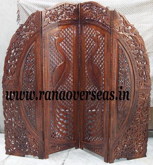 Wooden Carved Room Divider Partition Screen
