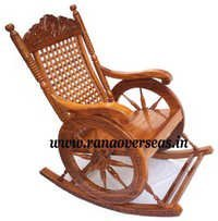 Wooden Carved Rocking Chair