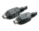 FIREWIRE cable 4 pin male to 4 pin male cord - 25 Meters