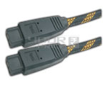 FIREWIRE IEEE 1394B 9 pin to 9 pin cord gold plated with nylon mesh - 10 Meters