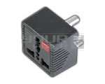 UNIVERSAL CONVERSION PLUG - 3 PIN WITH LIGHT