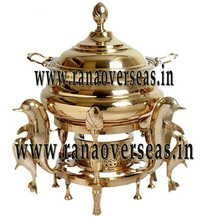 Dolphin Shape Brass Chafing Dish