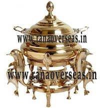 Dolphin Shape Brass Chafing Dish