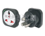 UNIVERSAL CONVERSION PLUG WITH LIGHT & CHILD SAFETY SHUTTER