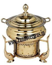 Duck Look Metal Chafing Dish in Brass