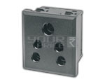 SNAP MOUNTING AC OUTLET INDIAN STANDARD (PC MOLDING) 6 Amps. 250V