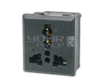 Snap mounting Universal AC outlet - 6 Amperes