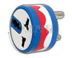 3 PIN ROUND CONVERSION PLUG ROTATABLE UPTO 180 DEGREES