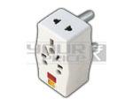 3 Pin Multi Plug Adaptor with Light  - 15 Amperes
