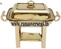 BRASS RECTANGLE CATERING CHAFING DISH