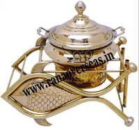 Fish Style Brass Metal Chafing Dish