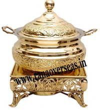 Beautiful Engraved Brass Metal Chafing Dish