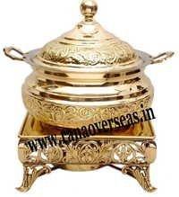 Beautiful Engraved Brass Metal Chafing Dish