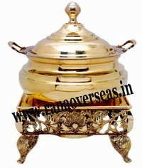 Brass Chafing Dish engraved