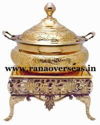BRASS METAL RECTANGLE CHAFING DISH