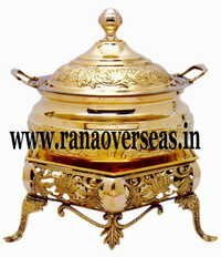 BEACHED BRASS CHAFING DISH